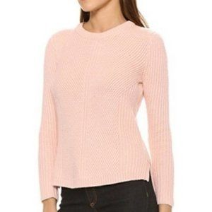 Madewell Pink Waffle Knit Crew Neck Sweater Small